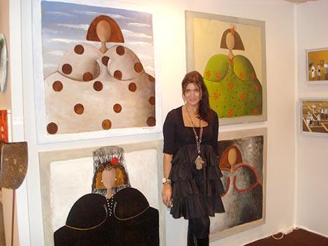 La pintora Ana Márquez lleva sus 'meninas' a París y Nueva York