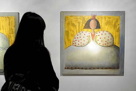 La pintora Ana Márquez fusiona aromas y 'meninas'